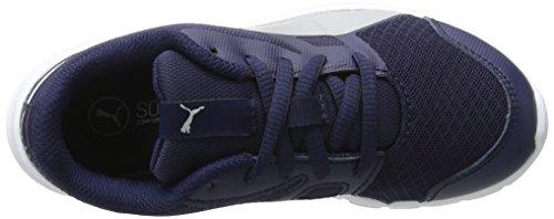 Puma Unisex-Kinder Flexracer PS Low-Top Blau (peacoat-gray violet 09)