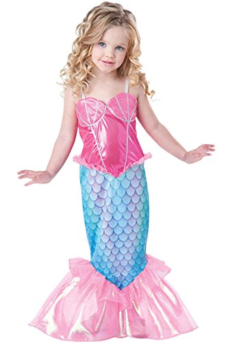 [Mememall Fashion Mystical Mermaid Deluxe Outfit Toddler Costume] (Super Deluxe Mermaid Costumes)
