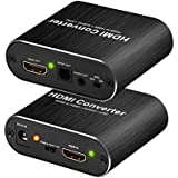 4K HDMI Audio Extractor, HDMI Audio Splitter, HDMI to HDMI + Optical Toslink (SPDIF) + 3.5mm Stereo Audio Adapter Converter Support 3D, ARC for PS4/3/ Pro/Roku/ Bul-Ray Etc