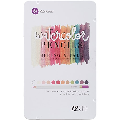 Prima Marketing Spring & Fall Mixed Media Watercolor Pencils (12 Pack)