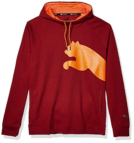 PUMA Men's CAT Sweat Hoodie, Rhubarb/Nrgy Red, XXL