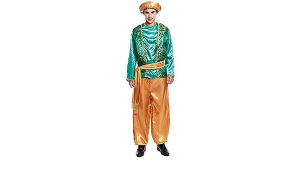 Partilandia Disfraz PAJE Verde para Hombre Navidad (L): Amazon.es ...