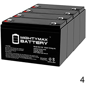 Amazon.com: UPG – d5736 UB6120 – 6 V, 12 Ah, 6 V – Pack de 2 ...