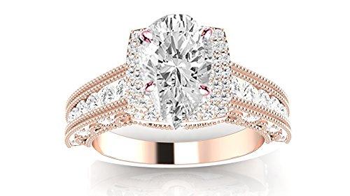 1.26 Ct Pear Diamond - 4