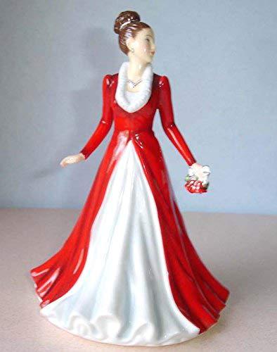(Royal Doulton Jingle Bells Songs of Christmas Petite Figurine Pretty Ladies New in Box)