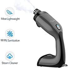 Handheld Steam Cleaner - Most Lightweight Steam Cleaner with 2 Round Brush for Stains Removal, Worked As Portable Clothes Steamer with GS70002 or GS70003 (Excluded), 3 OZ Tank Multipurpose Steamer