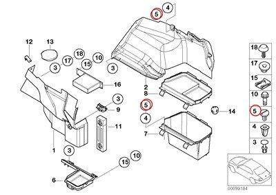 BMW Genuine Lateral Trunk Floor Trim Panel Locking Button 320i 323Ci 323i 325Ci 325i 325xi 328Ci 328i 330Ci 330i 330xi M3 325xi 328i 328xi 328i 328xi - Locking Trim Panel