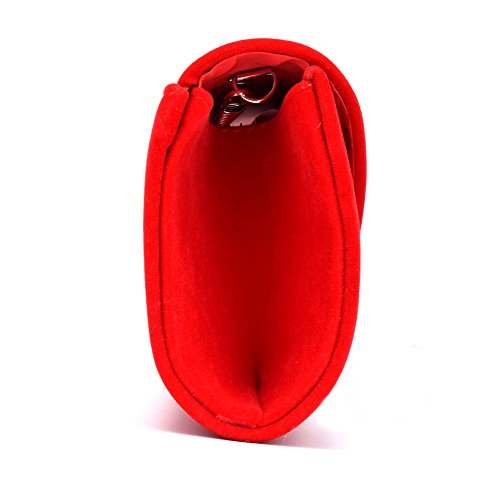 Clutch Bag Purse Women's Velvet U Red Party Evening Envelope Wedding Story Tote Handbag Zx0w6