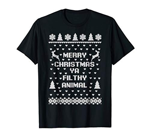 Merry Christmas Filthy Animal Ugly Sweater T-Shirt