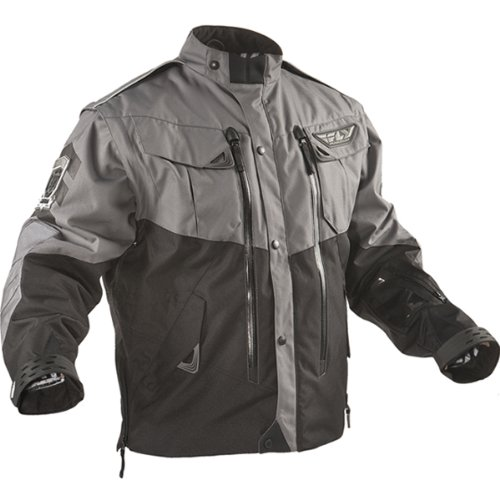 Fly Racing Patrol Men's MotoX/Off-Road/Dirt Bike Motorcycle Jacket - Black/Grey / 2X-Large