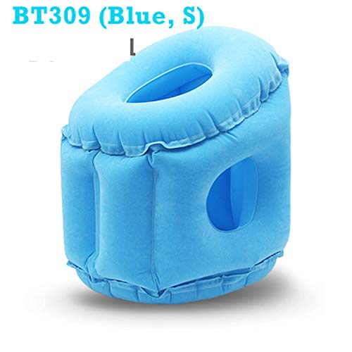 Upgraded Inflatable Air Cushion Travel Pillow Headrest Chin Support Cushions for Airplane Plane Car