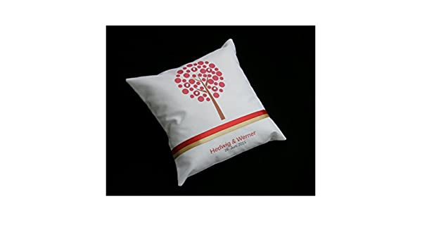 Anillo Cojín vida Árbol de Dupioni Logo de Natural seda de ...