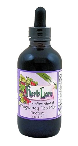 Pregnancy Tea Plus Tincture - Third Trimester Tea for Labor Prep - Strengthens and Tones Uterus for Labor and Delivery - 4 Ounces - Alcohol Free - Herb Lore (Best Herbs For Pregnancy)