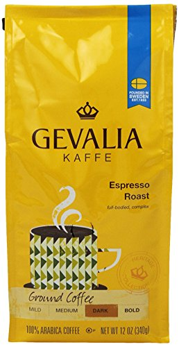 Gevalia Roast and Ground Coffee, Espresso, 12 Oz