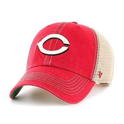 '47 Tampa Cincinnati Reds Trawler Clean Up Adjustable Trucker Hat Cap, Snapback Red