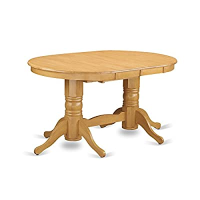 East West Furniture VANC9-OAK-C 9-Piece Dining Table Set