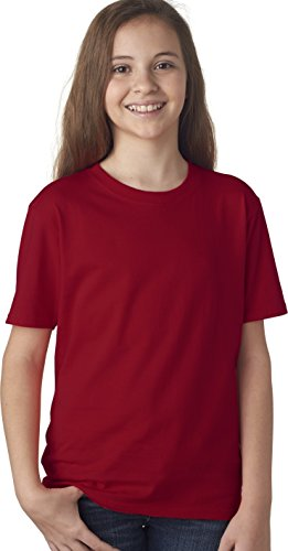 Anvil Youth Ringspun Midweight Seamed T-Shirt, Independence Red, X-Large