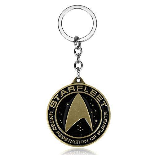 FITIONS - Movie Star Trek Academy Badge Starfleet Logo Keychains Enamel Metal Key Chains Rings For Fans Best Gift llaveros