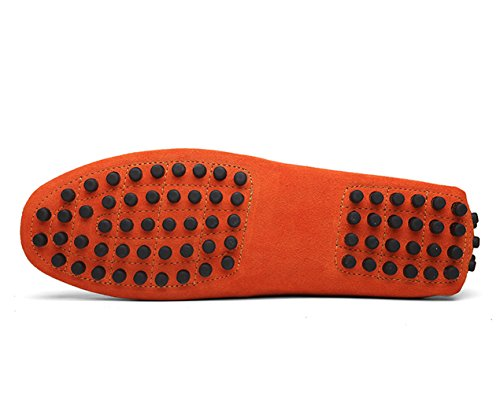 Icegrey Hommes Passant Conduite Chaussures Suède Flâneurs Orange 40