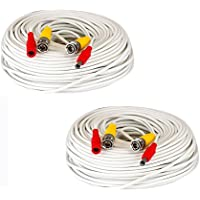 2 Pack of 150ft 150 Feet All-In-One Siamese CCTV Security Camera BNC Video and Power Cable for Surveillance System