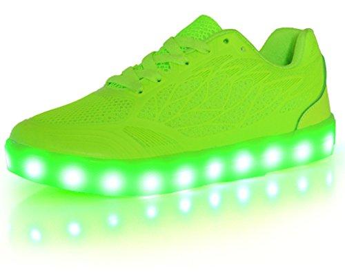 SUPER NENG Women shoes USB Charging LED Glow Shoes Flashing Sneakers