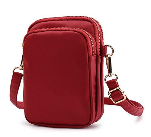 Mini Nylon Belt - Collsants Cell Phone Purse Nylon Mini Crossbody Bag Smartphone Wallet Belt Clip Pouch