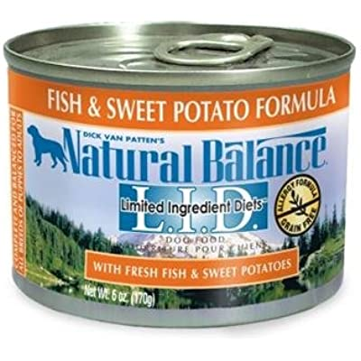 Natural Balance Limited Ingredient Diets Sweet Potato and Fish Formula Wet Dog Food Size: 6-oz, case of 12