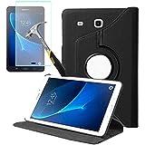 Capa Giratória Tablet Samsung Galaxy Tab A 7 T285 T280 + Película de Vidro - Preta