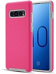 Idenmex Funda Case para Samsung S10 Doble Protector de Uso Rudo Express, Color Rosa