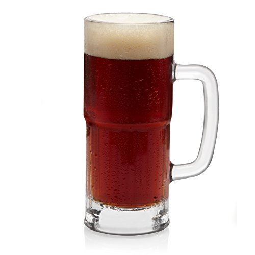 (Libbey Craft Brews Lager Stein Beer Glasses, 22-ounce, Set of 4)