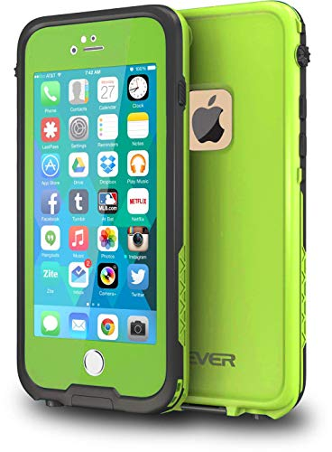 CellEver iPhone 6 Plus / 6s Plus Case Waterproof Shockproof IP68 Certified SandProof Snowproof Diving Full Body Protective Cover Fits Apple iPhone 6 Plus and 6s Plus (5.5) - Lime Green