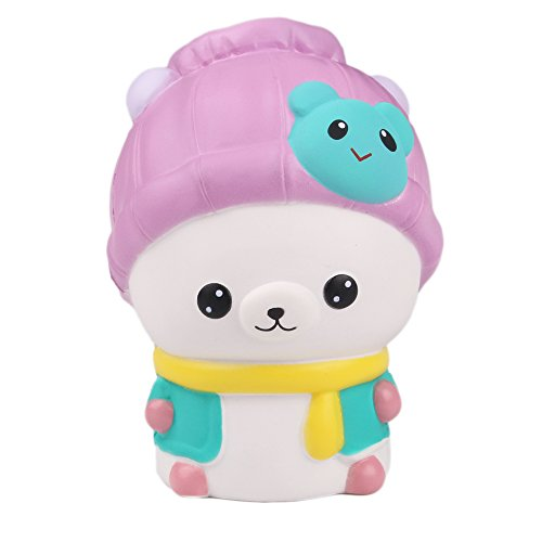 AIKEMI Jumbo Squishies Cartoon Bear Squishy Slow Rising Scented Squeeze Stress Relief Fathers Day Toys Gifts (purple) for cheap