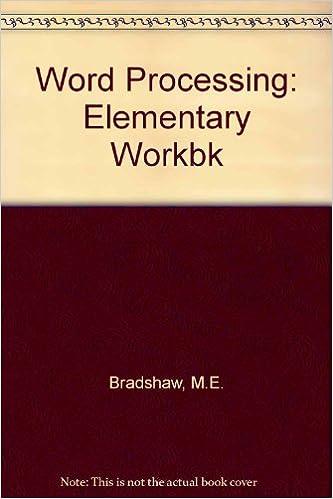 Word Processing: Elementary Workbk