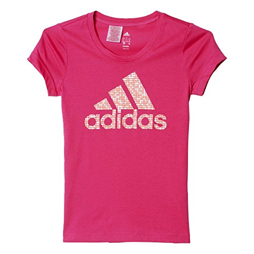 adidas Oberbekleidung Wardrobe Brand Logo Tee, pink, 140, AK2058