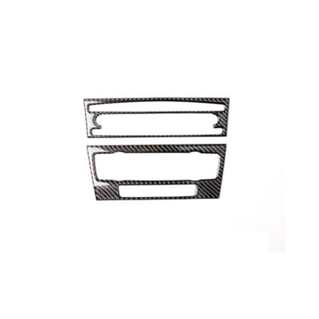 Decorativo 2 Piezas de Fibra del carb/ón 3D de Coches Aire Acondicionado Panel de CD Cubierta de Pegatinas para BMW E90 E93 E92