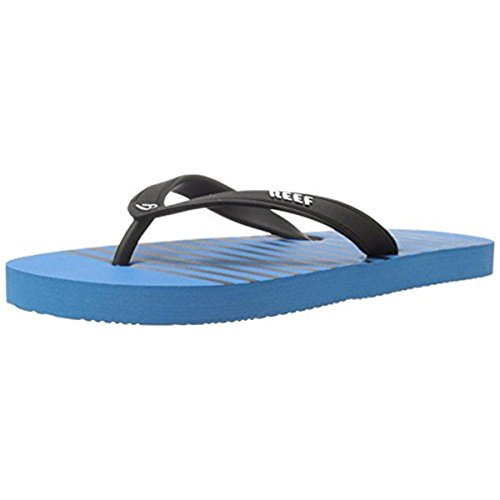 Reef Print Sandals - Reef Boys' Grom Switchfoot Prints-K Sandal, Black/Blue, 11/12 M US Little Kid