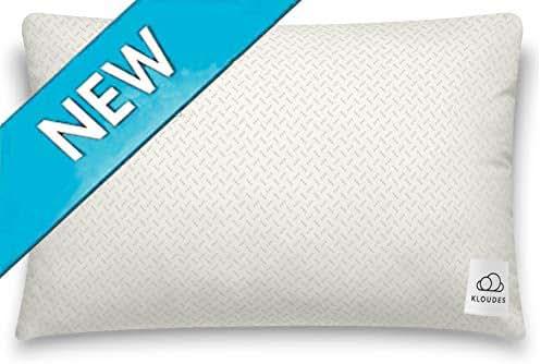KLOUDES Adjustable Pillow   Best Pillows for Sleeping   Helps Reduce Neck & Shoulder Pain During Sleep CertiPUR-US Certified Safe Memory Foam (Standard)