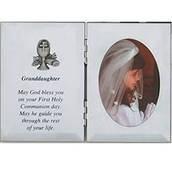 Amazon.com - First Communion Granddaughter Photo Frame 5x7 Religious ...
