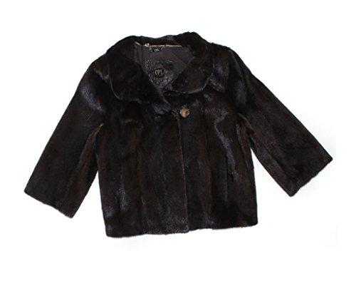 610463 New Natural Mahogany Brown Female Mink Fur Jacket Coat Stroller (Mahogany Mink Fur Coat Jacket)
