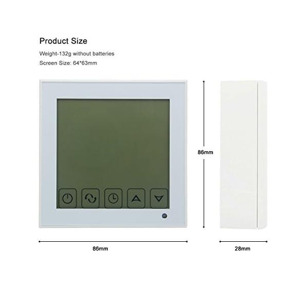 Beok Termostato a Batteria per Caldaia a Gas Programmabile Ambiente Termostato de Parete con Digitale LCD Touchscreen… 6 spesavip
