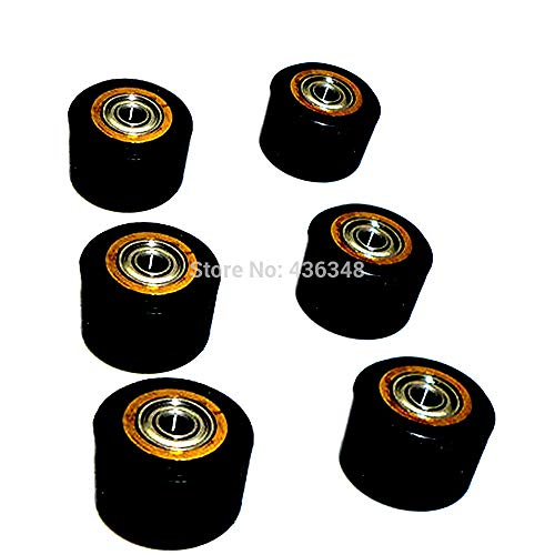 FINCOS 1/2/3/4/5/6pcs 5mmx11x16mm Copper Core Pinch Roller for Roland Vinyl Plotter Cutter Printer Parts Wheel Bearing Paper Pressing - (Color: 4pcs) by FINCOS (Image #1)