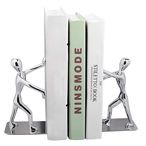 Dovlen 1 Par Acero Inoxidable Kung Fu Ni/ño Libro Clips Europeo Sujetalibros para Casa Decoraci/ón