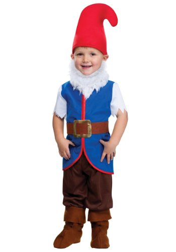 Gnome Boy Toddler Costume (Large 3T-4T) (Gnome Halloween Costume)