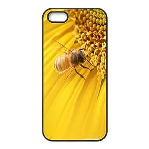 Case For Iphone 6 4.7 Inch Cover Cases Bee on Sunflower, Case Stevebrown5v - Black