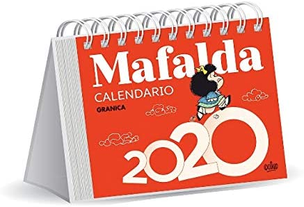 Mafalda 2020 calendario escritorio (rojo)