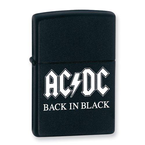 Zippo AC/DC Back in Black Black Matte Lighter by Zippo