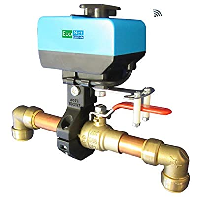 """EcoNet Controls EVC200-HCSML The Bulldog Valve Robot, Z-Wave Water Valve, Smart Home Friendly, Easy to Install and No Plumbing Required, for Valves up to 1.5"""""""