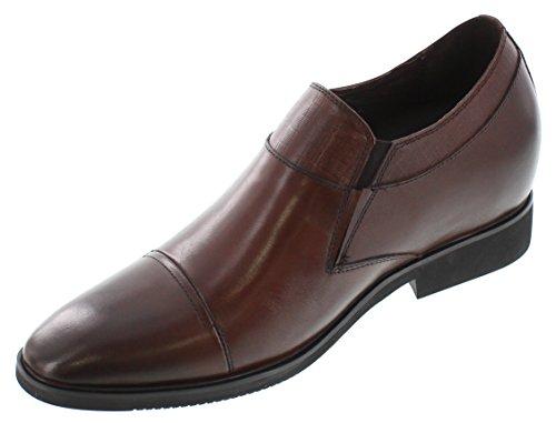Calden–A1134–8,1cm Grande Taille–Hauteur Augmenter Chaussures ascenseur–Marron à Lacets