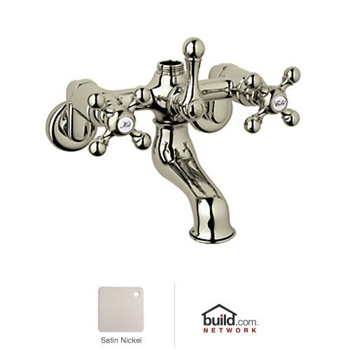 Rohl AC13X-STN R9458432Pn Exposed Tub Filler with Metal Cross Handles from Cisal Bath Collection, ()