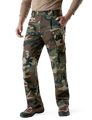 CQR CQ-TLP105-WOV_42W/32L Men's Tactical Pants Lightweight EDC Assault Cargo TLP105